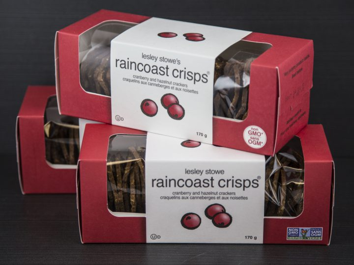 Craquelins Raincoast romarin, raisins secs et pacanes
